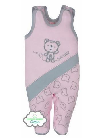 Kojenecké BIO dupačky Koala Malí Medvídci růžové