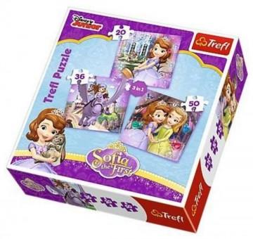Puzzle Princezna Sofie První 3v1