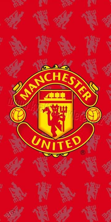 Plážová osuška Manchester United červená 75/150