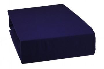 Prostěradlo jersey 220x200 cm - tmavě modré