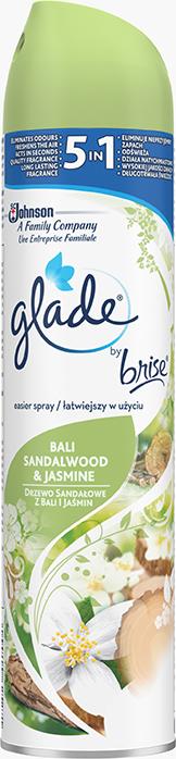 Glade by Brise - Aerosolový sprej - Santalové dřevo a jasmín z Bali, 300ml