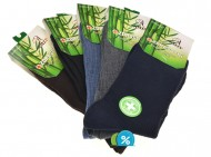 Pánské klasické zdravotní bambusové ponožky AMZF A-9012 - 5 párů, velikost 40-43