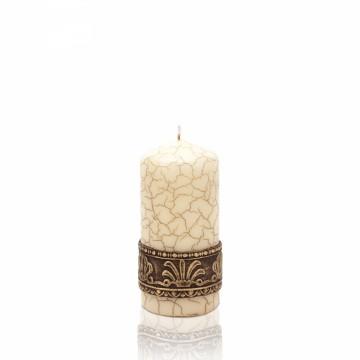 Dekoratovní svíčka - válec, mramor, 60x130 cm, 300g