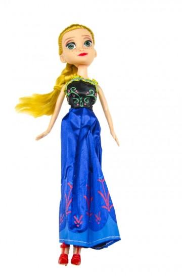 Baba kék ruhában - 23cm