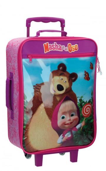 Cestovní kufr Máša a Medvěd 50 cm
