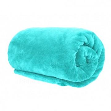 Pătură din microfibră, dimensiuni 200x220 cm - albastru-verde