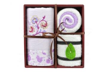 Dárkový set ručníků - fialová