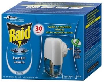 Raid - Elektrický strojek proti komárům - odpařovač s tekutou náplní až na 30 nocí