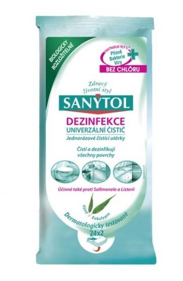 Sanytol - dezinfekční ubrousky na povrchy, 2x24 ks