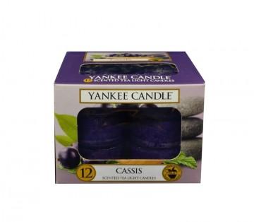 Yankee Candle čajové svíčky 12 x 9,8g Cassis