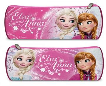 Kulatý penál Ledové Království Anna a Elsa růžová