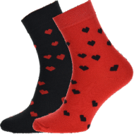 Ponožky - Srdce - velikost 43-46