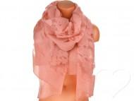 Női egyszínű kendő - fáradt rózsaszín