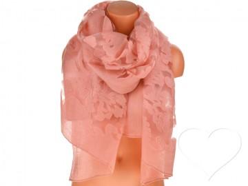 Dámský jednobarevný šátek - starorůžový