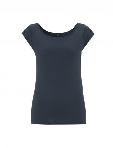 Dámské bambusové tričko, raglanový rukáv - Denim, 1 ks - velikost S