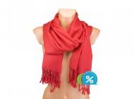 Jednobarevná šála - červená