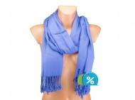 Jednobarevná šála - modrá
