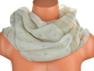 Jednobarevný letní šátek - světle hnědý