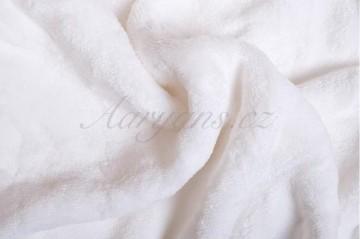 Prostěradlo mikroflanel 180x200 cm - bílé