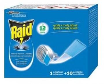 Raid szúnyogirtó készülék és szúnyogirtó utántöltő lap 10db