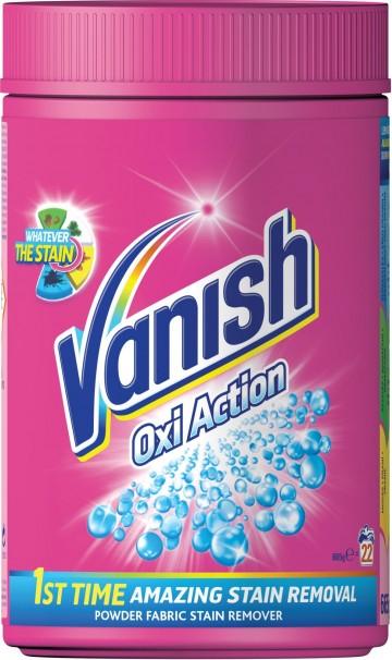 Vanish Oxi Action - odstraňovač skvrn na barevné prádlo - prášek, 665g