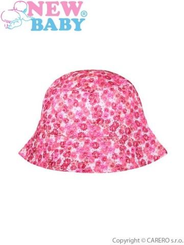 Letný detský klobúčik New Baby Kytička ružový