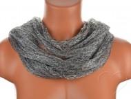 Tunelový šátek s kamínky, leopard - šedý