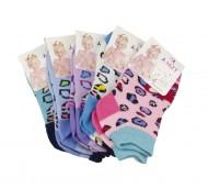 Dětské kotníkové bavlněné ponožky barevné - 3 páry, velikost 17-22