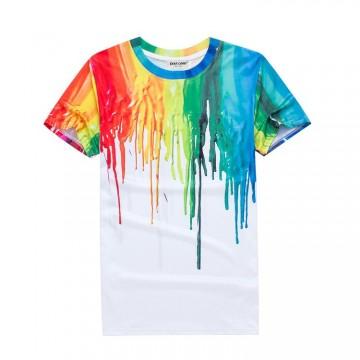 Férfi póló festék mintával, méret S
