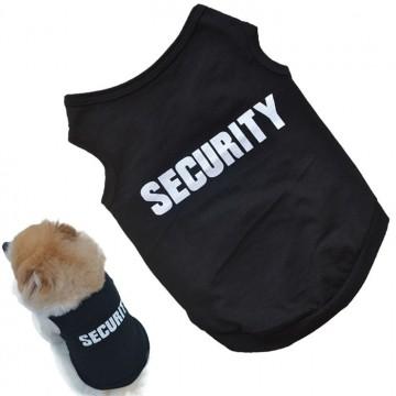 Tricou din bumbac pentru cățeluși cu inscripție SECURITY