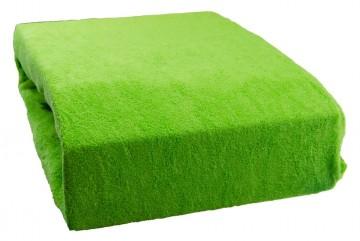 Cearșaf plușat 200x220 cm - verde mazăre