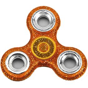 Fidget spinner - třpytivý - oranžový