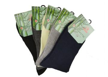 Dámské zdravotní bambusové ponožky - jednobarevné - 5 párů, velikost 35-38