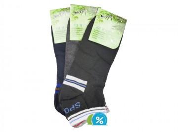Pánské kotníkové bambusové ponožky NaiGe NM30103 - 3 páry, velikost 43-47