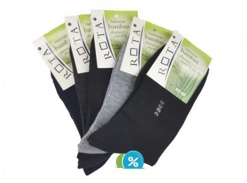 Pánské klasické bambusové ponožky ROTA B026 - 5 párů, velikost 43-46