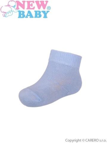 Dojčenské bavlnené ponožky New Baby modré