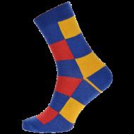 Ponožky - Kostky barevné - velikost 43-46