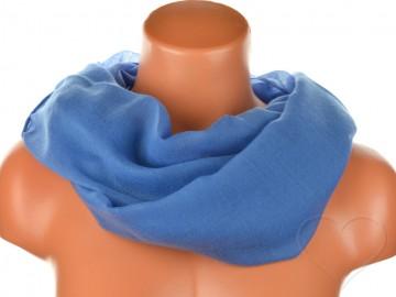 Dámský jednobarevný tunelový šátek - tmavě modrý