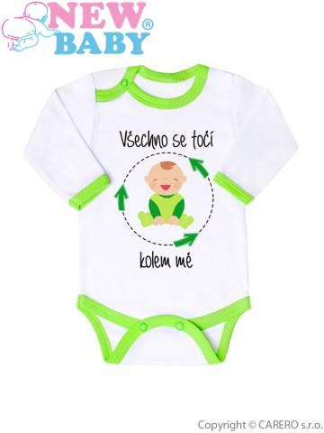 Body s potiskem New Baby Všechno se točí kolem mě