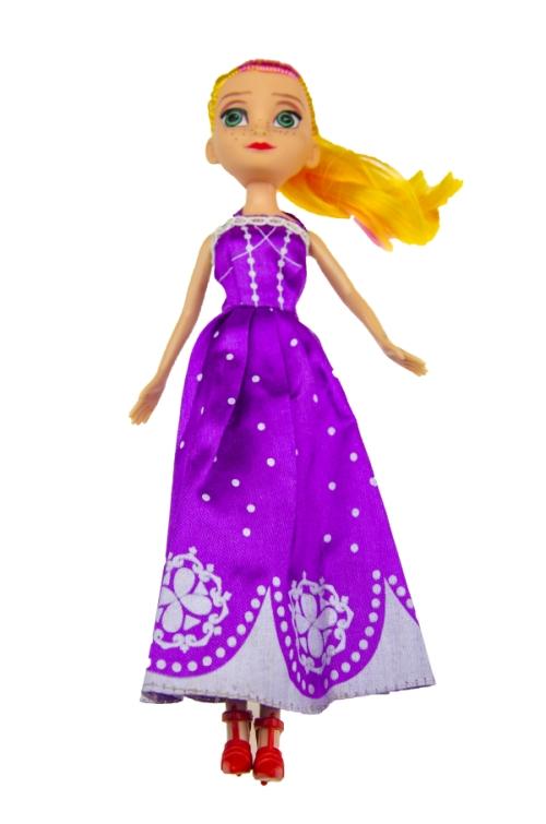 Păpușă în rochie violetă 23cm