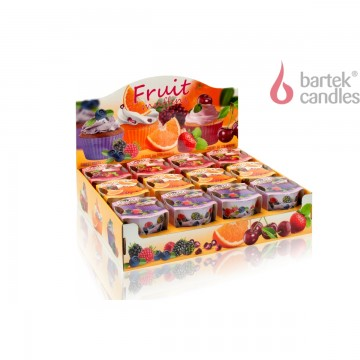 Vonná svíčka ve skle – Ovocné muffiny – třešeň a jahoda, 115g