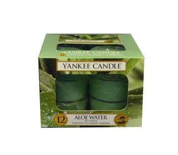 Yankee Candle čajové svíčky 12 x 9,8g Aloe Water