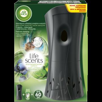 Air Wick Komplet 250ml - Freshmatic osvěžovač vzduchu, černý, + náplň - Svěží deštivé amazonské lesy