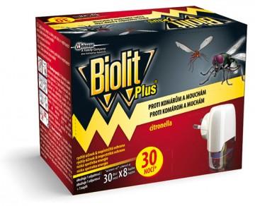 Biolit Plus - elektrický odpařovač, 30 nocí proti komárům a mouchám