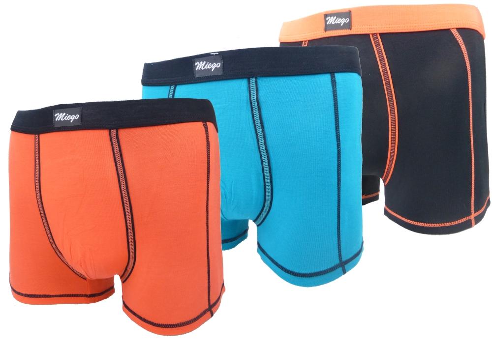 Bambusové boxerky - Miego barevné - 3ks, velikost XXL
