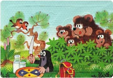 Pěnové Puzzle Krtek a medvědi 12 dílků