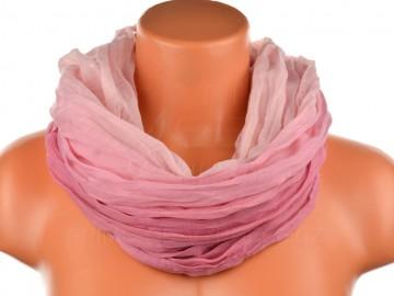 Dámský tunelový šátek v odstínech jedné barvy - starorůžový