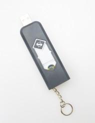 Žhavící zapalovač s nabíjením přes USB - černý