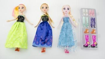 3x bábika + sada výměné obuvi