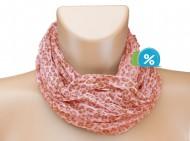 Tunelový šátek s kamínky, leopard - oranžový